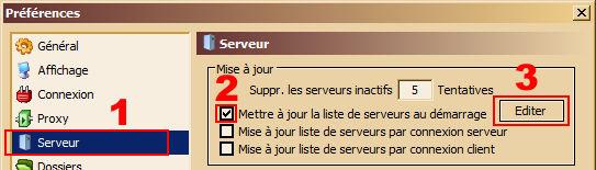 liste de serveur pour emule 0.50a