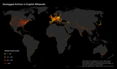 Wikipedia Geotagged English Articles - Souce CC - http://geography.oii.ox.ac.uk